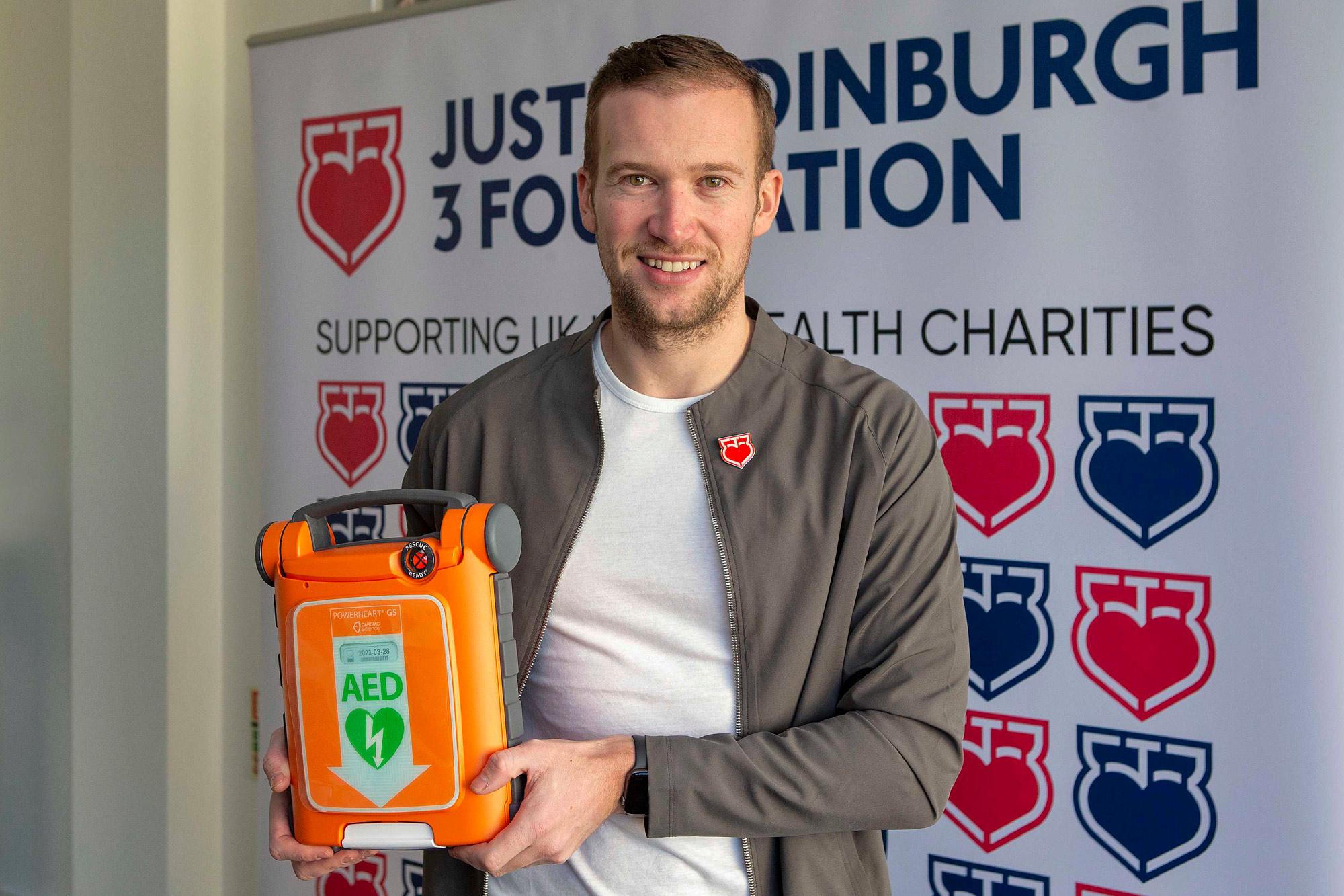 Defibrillator Donations Mark Justin's 51st Birthday