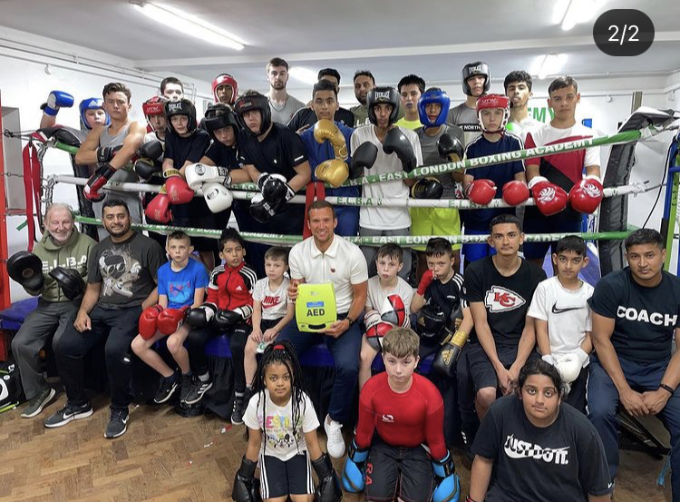 East London Boxing Academy Receives Defibrillator